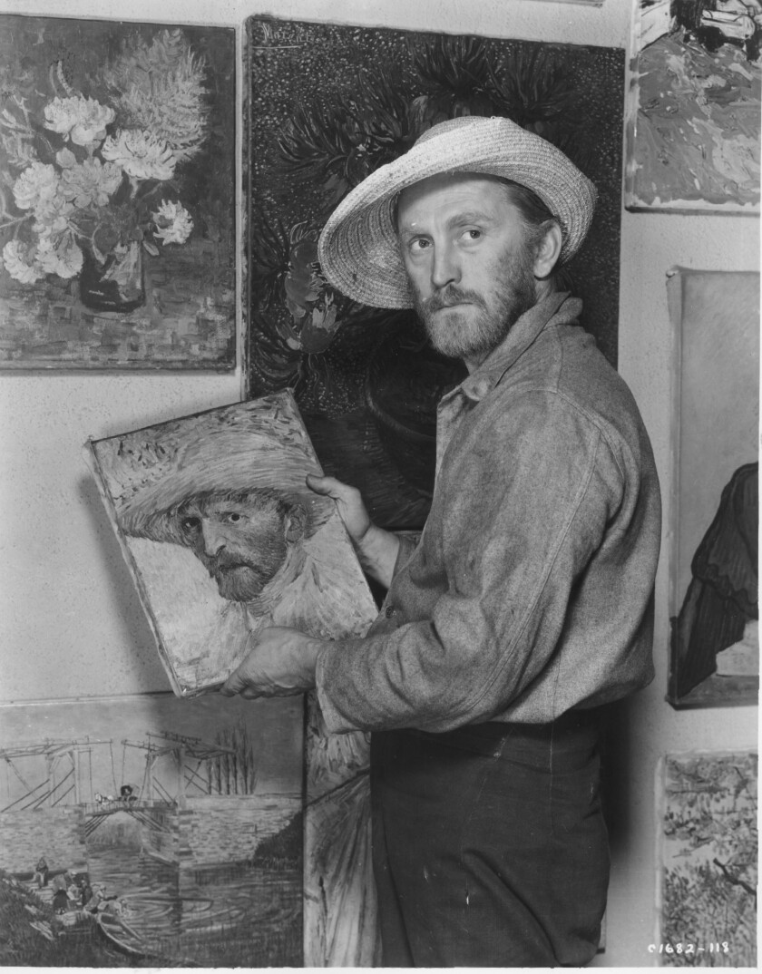 "Kirk Douglas as Vincent van Gogh in ""Lust for Life"" (1955)."