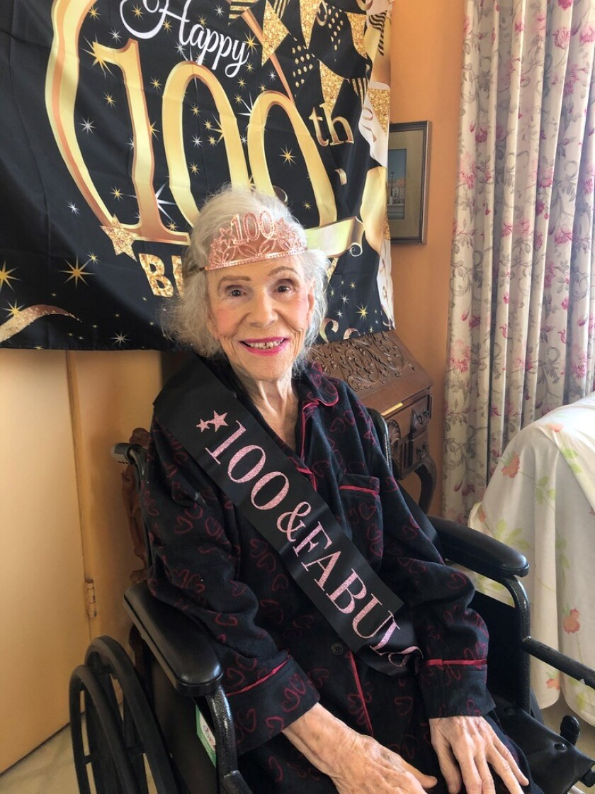 "Josephine ""Jo Bobbie"" MacConnell Showley celebrated her 100th birthday April 11."