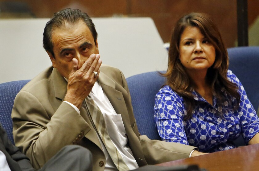 Former Los Angeles City Councilman Richard Alarcon and his wife, Flora Montes de Oca Alarcon, were convicted in July of lying about where they lived so Alarcon could run for a seat on the council.