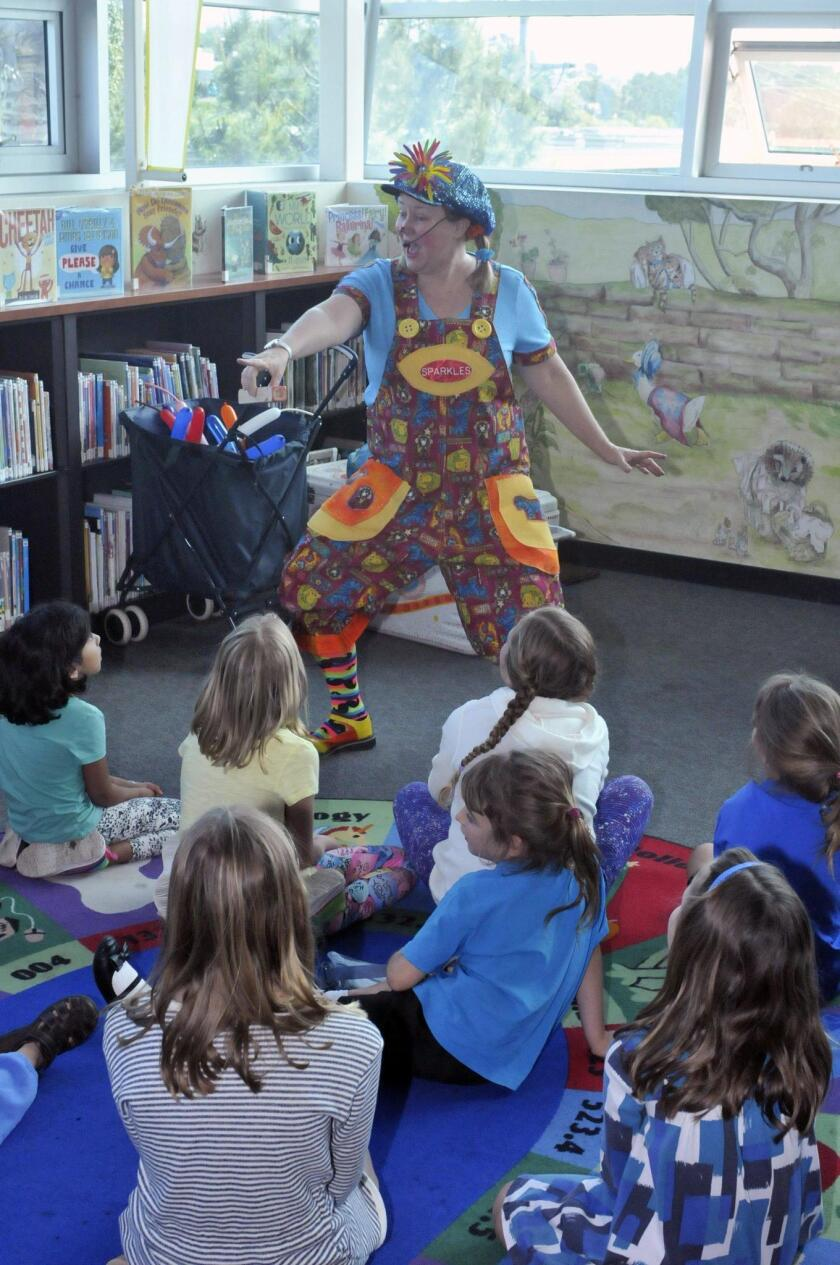 Sparkles the Clown was the star attraction