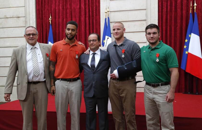 Americans, Briton awarded Legion of Honor
