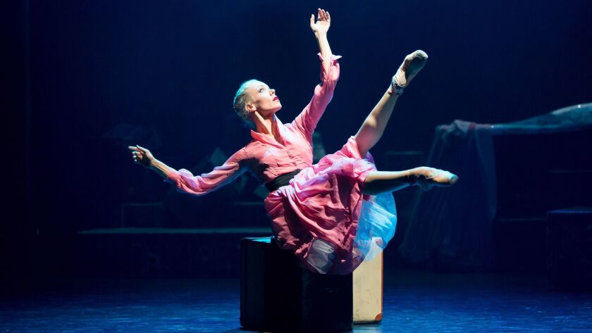 """Eve Mutso as Blanche DuBois in Nancy Meckler and Annabelle Lopez Ochoa's, """"A Streetcar Named Desire."""