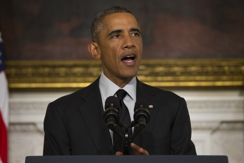 """President Obama has said the U.S. war on Islamic State will be """"a long-term campaign"""" with no """"quick fixes involved."""""""