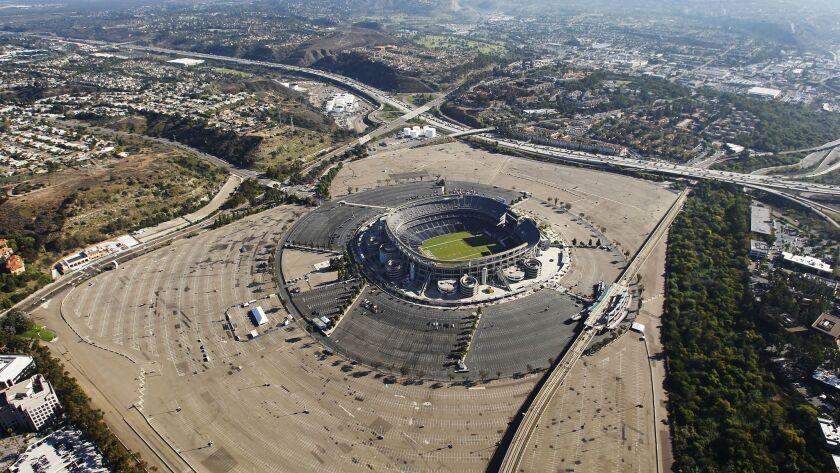 SDSU West and SoccerCity are competing to redevelop the former Qualcomm Stadium site, which sits on 166 acres of land in Mission Valley.