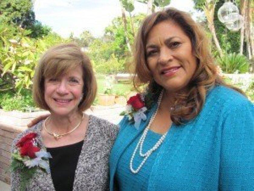 Rosalie Gerevas and Rosalie Camacho of Rancho Santa Fe.