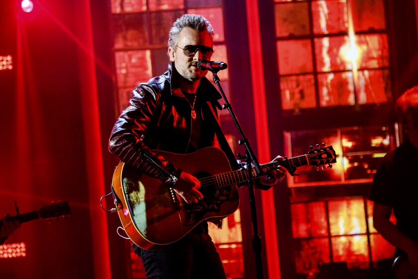 Eric Church performs at the 56th annual Academy of Country Music Awards in Nashville.