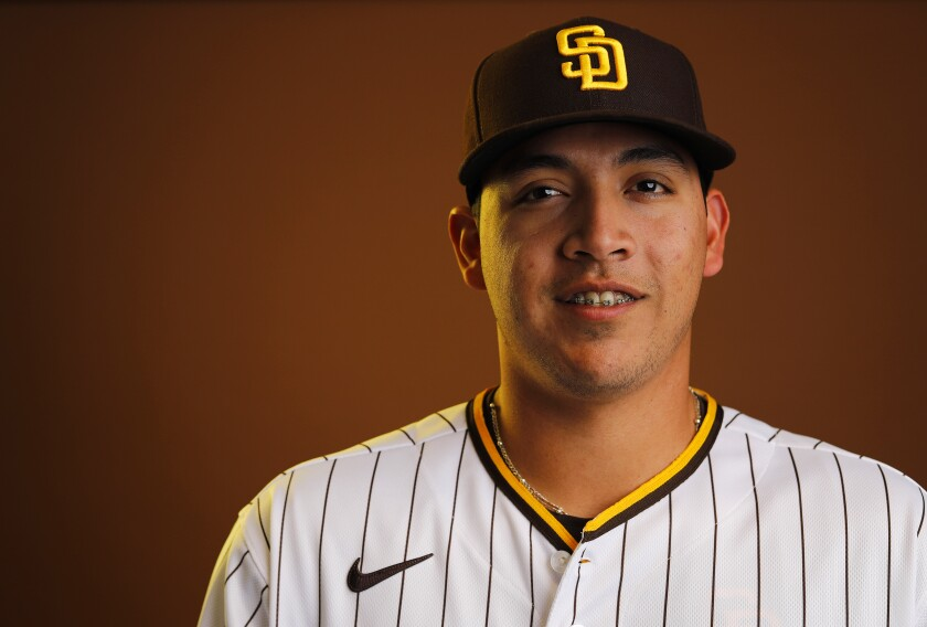 San Diego Padres pitcher Andres Munoz.