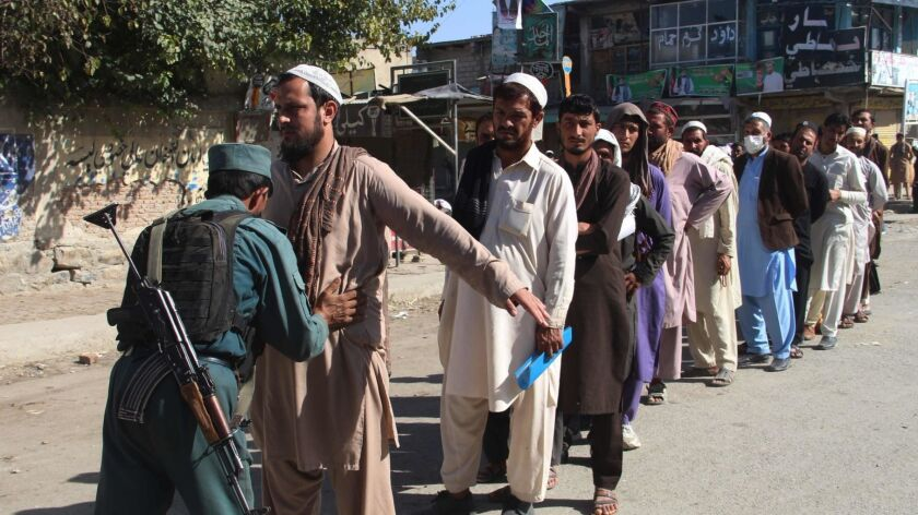 Afghanistan election is rocked by violence and chaos - Los
