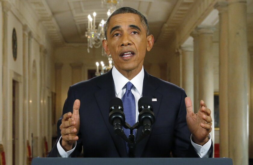 President Obama announces executive actions on U.S. immigration policy during a nationally televised address from the White House in Washington, DC.