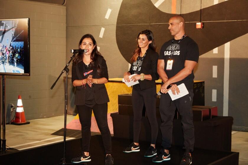 Blanca Gonzalez dirigió la entrega de reconocimientos a las personalidades que incentivan el deporte en el este de Los çngeles.