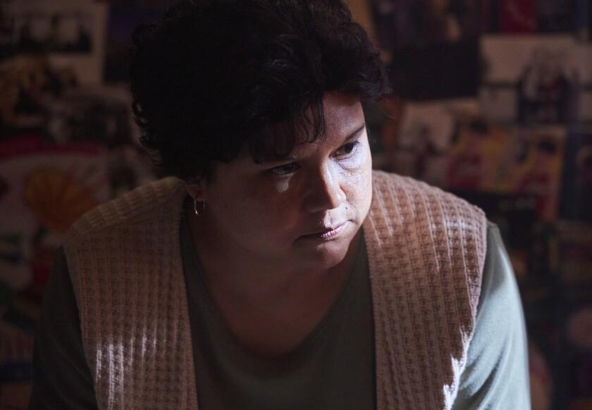 This image released by Netflix shows Natasha Perez as Yolanda Saldivar