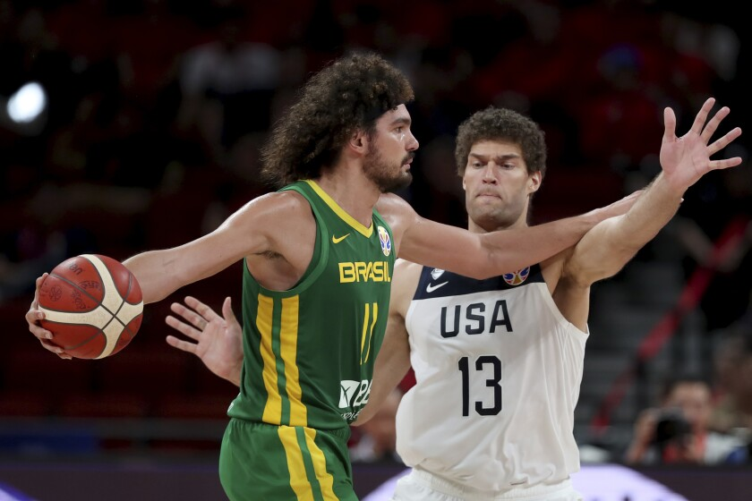 Basketball World Cup game in Shenzhen, China, Sept. 9, 2019