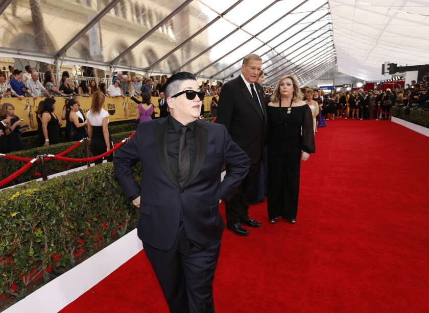 Lea DeLaria at the 21st Screen Actors Guild Awards at the Shrine Auditorium in Los Angeles on Jan. 25, 2015.