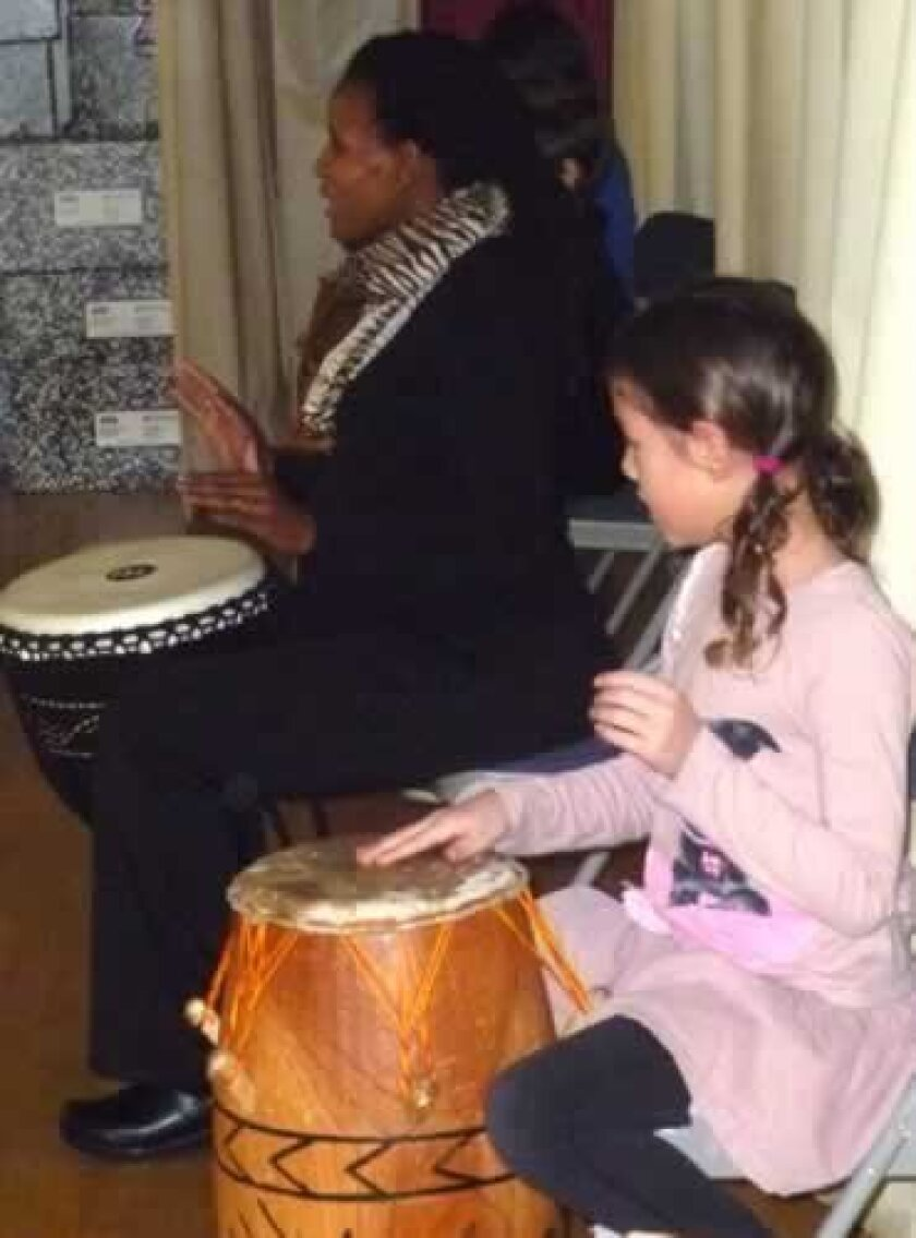 Bird Rock elementary students participate in the music and art program with the center for World Music. Courtesy