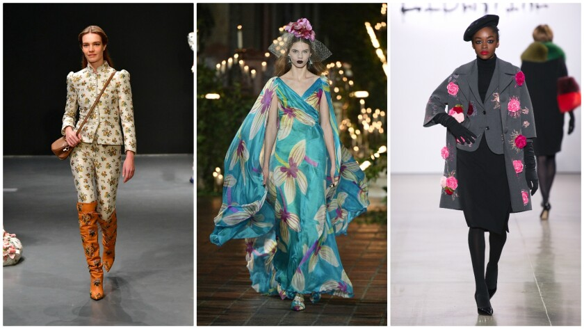 Florals on the New York Fashion Week fall/winter 2020 runway