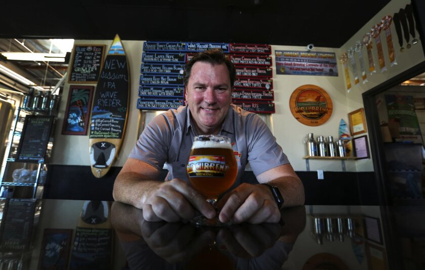 Rip Current and co-owner/brewmaster Paul Sangster.