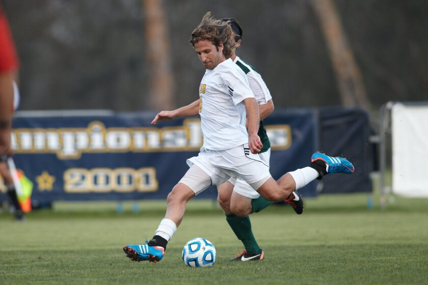 Graduate student Andisheh Bagheri has sparked the UCSD offense this year, scoring nine goals, including six game-winners.