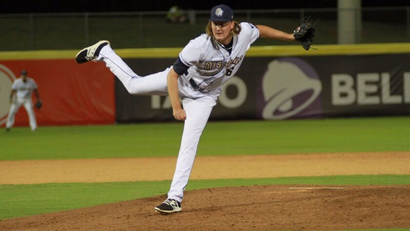 Padres pitching prospect Trey Wingenter has touched 100 mph at Double-A San Antonio in 2017.