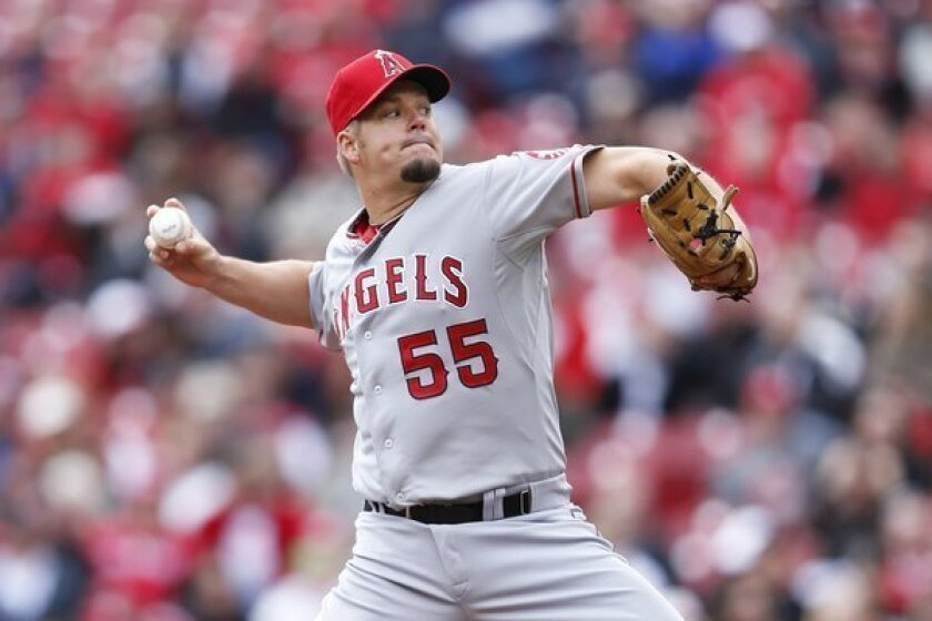 Angels pitcher Joe Blanton gives up 3 homers in 5-4 loss to Reds
