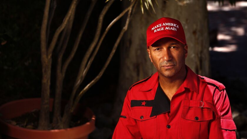 LOS ANGELES, CA-JULY 8, 2016: Musician Tom Morello of Rage Against the Machine fame, is photographe