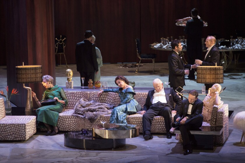 "The bourgeoisie are in a state of stupor in the Salzburg Festival production of Thomas Ades' new opera, ""The Exterminating Angel."""