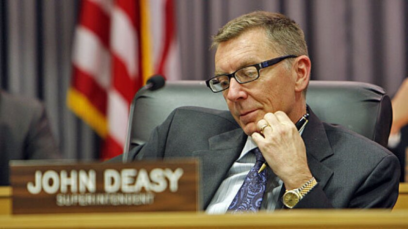 """L.A.Unified Supt. John Deasy contended that releasing names would lead to resentment and jealousy among teachers, spur """"unhealthy"""" comparisons among staff, cause some instructors to leave the nation's second-largest school system, and interfere with teacher recruitment."""