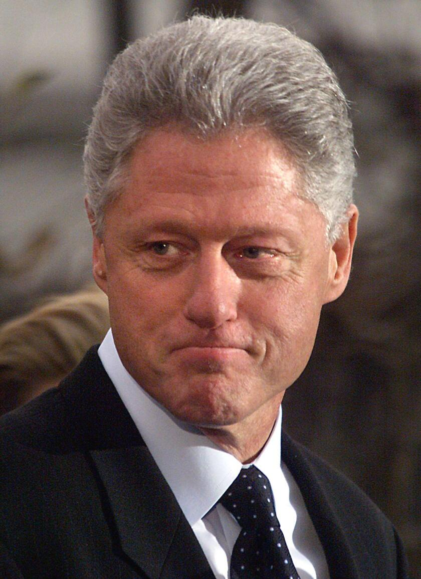 An image of President Bill Clinton in 1998