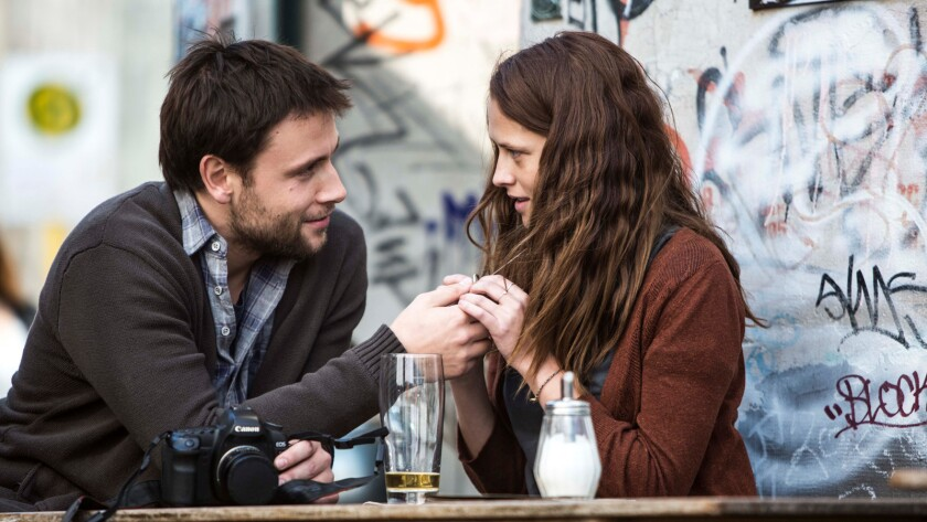 """Max Riemelt and Teresa Palmer in the film """"Berlin Syndrome."""""""