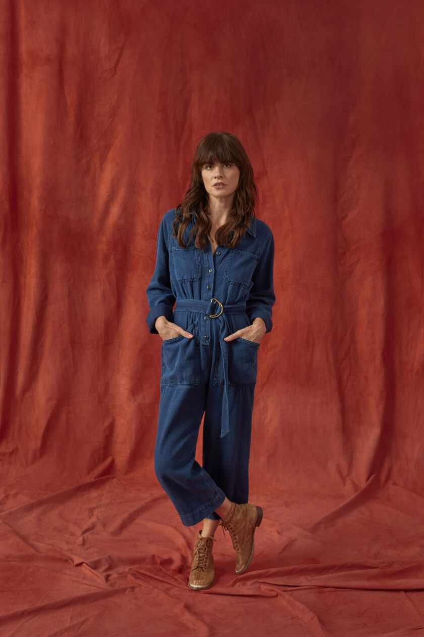 A Rosie the Riveter-inspired jumpsuit