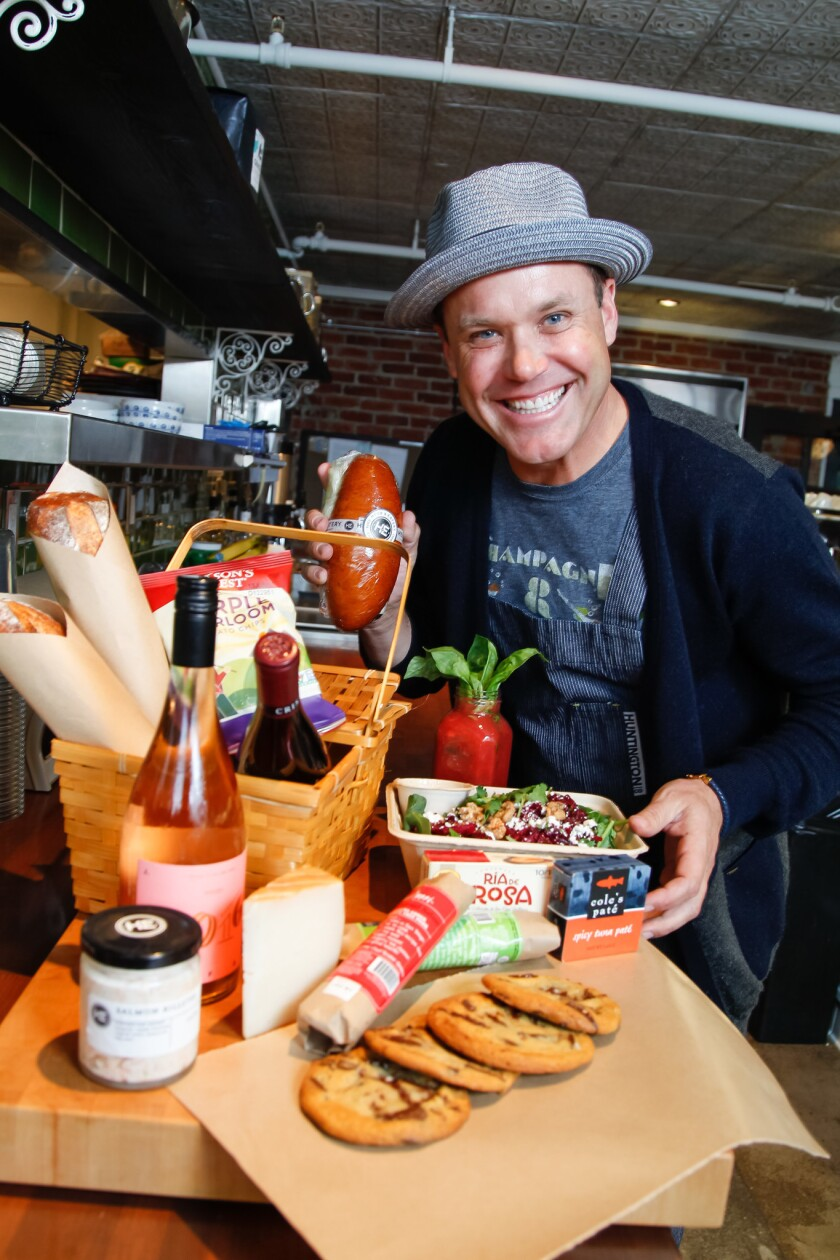 SAN DIEGO, CA June 1st, 2017 | Celebrity chef Brian Malarkey shares his ideas for putting together a nice picnic lunch at his Herb and Eatery market on Thursday in San Diego, California. | (Eduardo Contreras / San Diego Union-Tribune)
