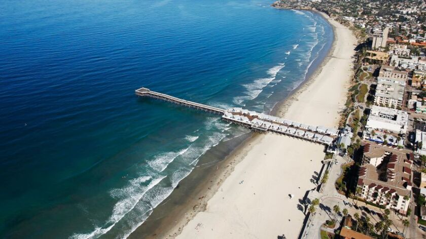Crystal Pier in Pacific Beach.