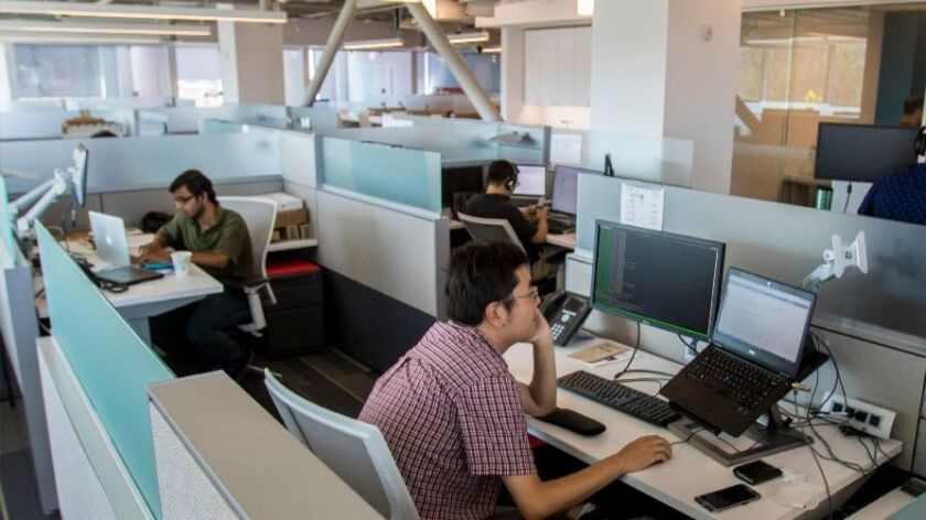 Experian DataLabs employs about 40 workers in San Diego.
