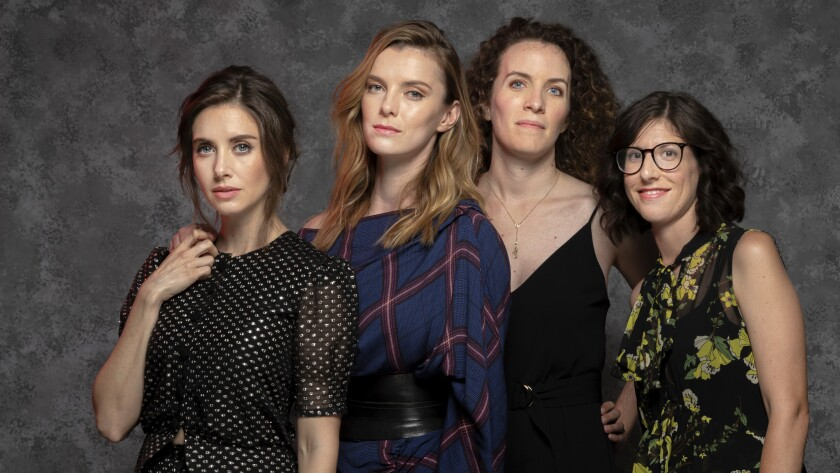 """Glow"" stars Alison Brie and Betty Gilpin, and show creators Liz Flahive and Carly Mensch, discuss this season's sexual harassment episode."