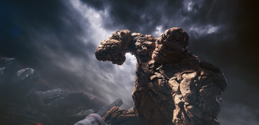 """Jamie Bell plays Ben Grimm/The Thing in Fox's """"Fantastic Four."""""""
