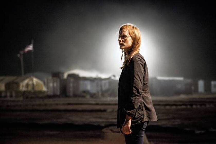 "Jessica Chastain plays a CIA agent in ""Zero Dark Thirty."""