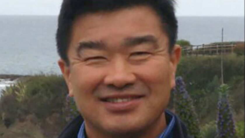 FILE - This 2016 file photo provided by the family of Tony Kim, shows him in California. Kim and two