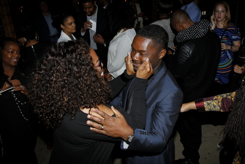 """Oprah Winfrey gushes over actor David Oyelowo after the premiere of """"Selma"""" immediately hailed as a smash by tweeters."""
