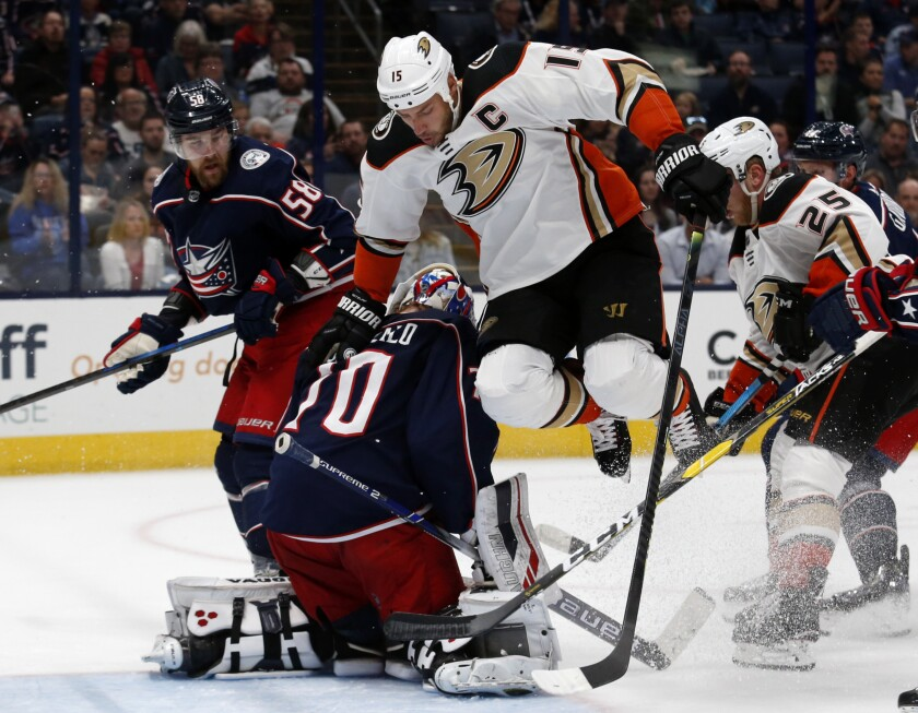 Ducks Blue Jackets Hockey