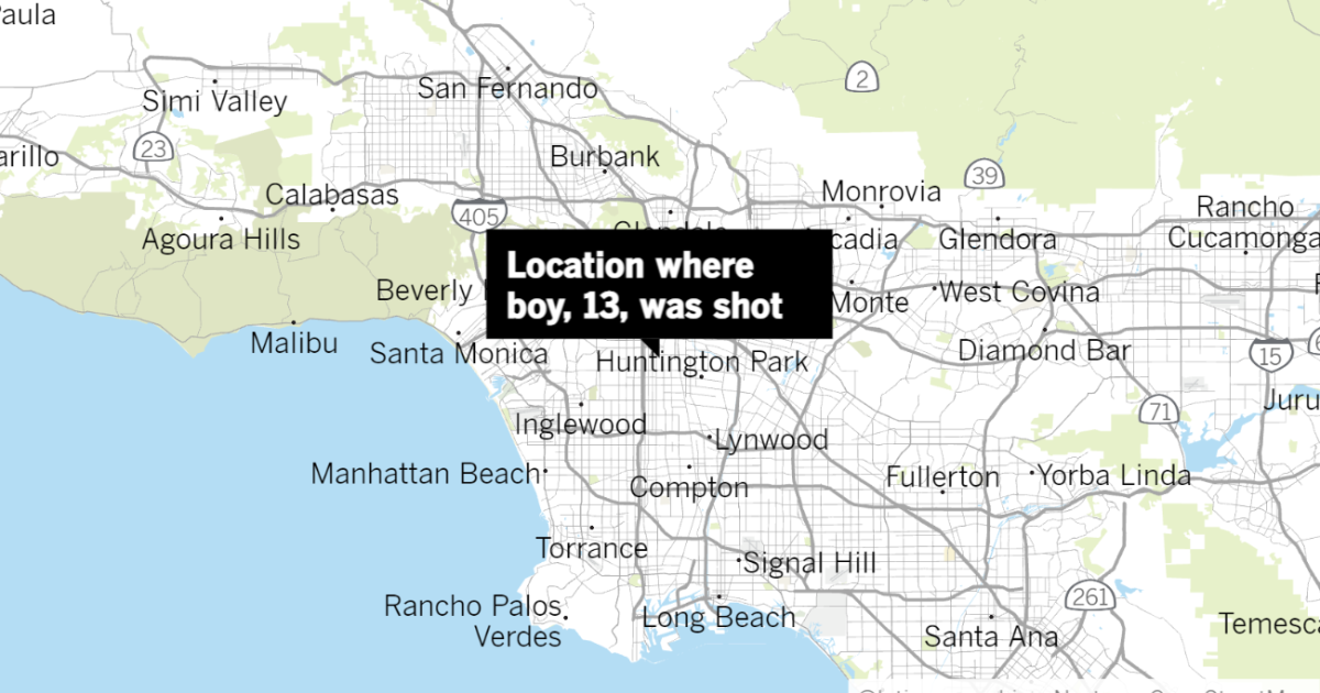 13-year-old boy shot in South L.A. - Los Angeles Times