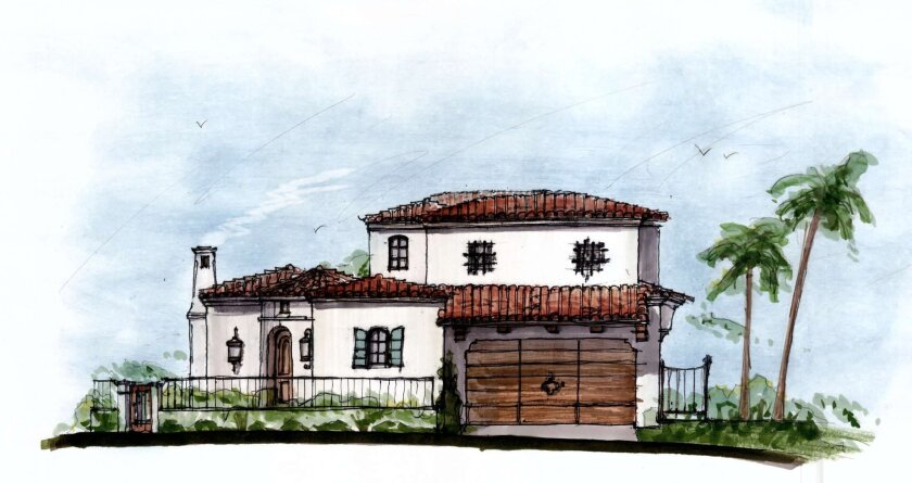 An east-facing view of the revised Biddulph home rebuild, on the coast at 7106 Vista Del Mar in WindanSea. Courtesy of Island Architects
