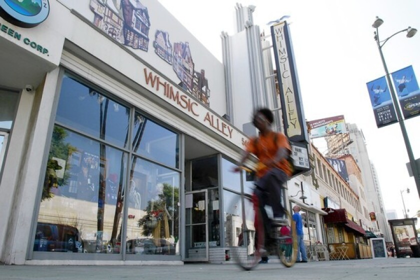 """Whimsic Alley, on L.A.'s Miracle Mile, has emerged as an unofficial gathering place for """"Harry Potter"""" fans."""