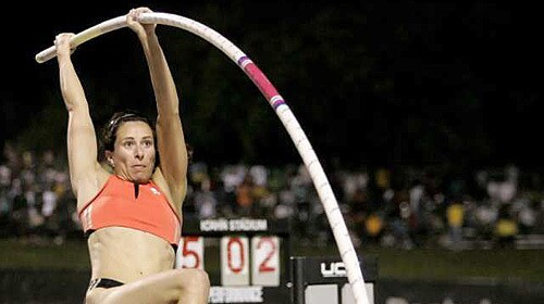 Pole vaulters must check their poles and pay extra baggage fees when traveling on commercial airline flights. American champion Jenn Stuczynski has lost poles but later got them back.