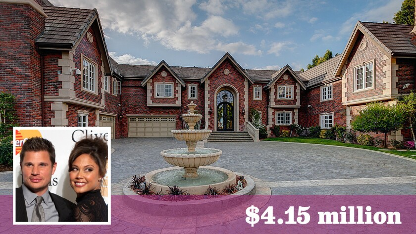 Singer-actor Nick Lachey and his wife, actress Vanessa Minnillo, have bought the Encino home of late singer Jenni Rivera for $4.15 million.