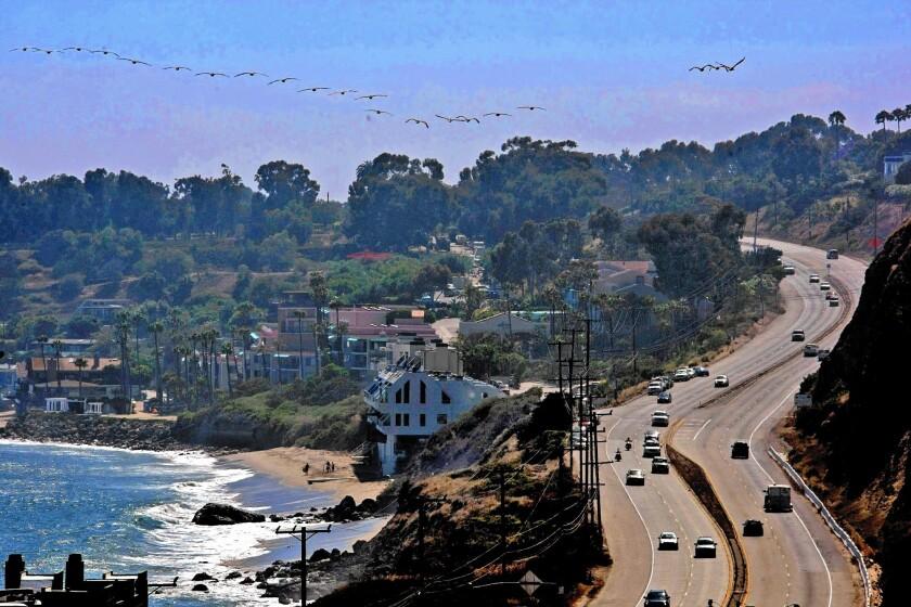 The scenic drive up Pacific Coast Highway in Malibu.
