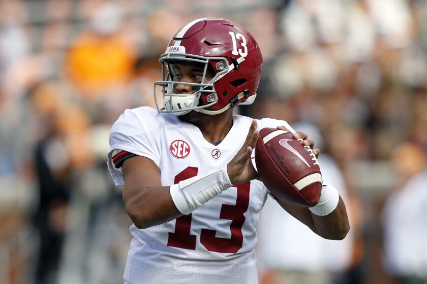 Will uber-talented and oft-injured quarterback Tua Tagovailoa be available when the Chargers pick at No. 6 in the first round of the NFL Draft on Thursday?