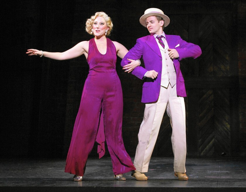 """Kaitlin Lawrence as Dorothy Brock and Blake Stadnik as Billy Lawlor performing the musical number """"You're Getting to Be a Habit with Me."""""""