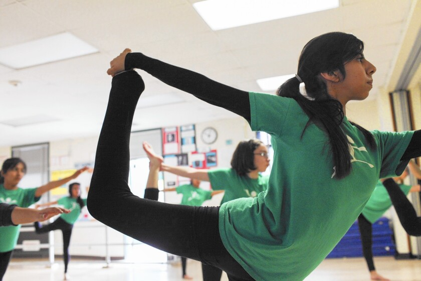 A dance class at Gabriella Charter School in Los Angeles. The next Board of Education will choose a superintendent for the nation's second-largest district and contend with the growing number of charter schools.