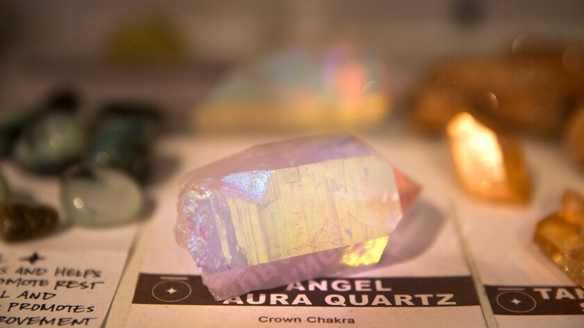 New Age shops offering crystals are experiencing a resurgence in