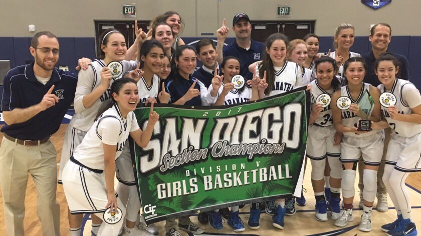 The Maranatha Christian girls basketball team won its first section championship in school history on Thursday night.