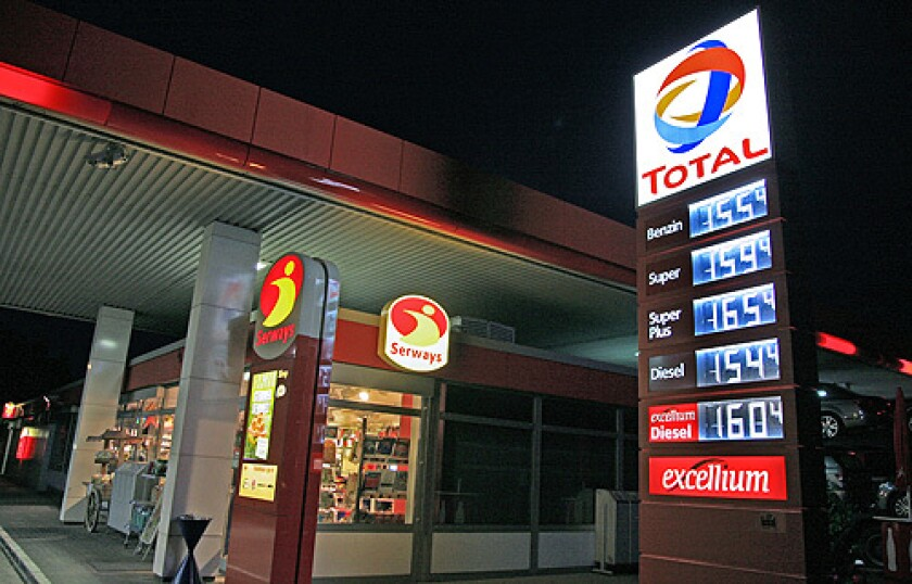 Gas prices, world
